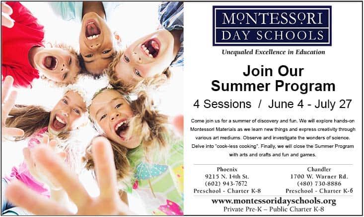 Montessori School Summer Program Camp Flyer